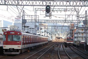2018年10月6日 16時5分、今里、普通列車で奈良へ戻る3102ほか。右は大阪線の上り普通。