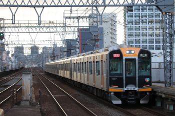 2018年10月6日 16時30分ころ、今里、阪神1000系ほか10連の快速急行 奈良ゆき。