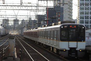 2018年10月6日 16時50分ころ、今里、近鉄の混色編成の快速急行 奈良ゆき。