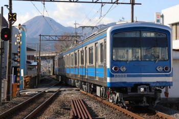 2019年1月5日 13時53分ころ、和田河原、到着する小田原ゆき。