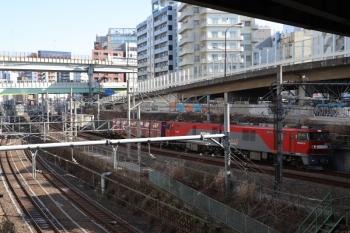 2019年1月17日 11時58分ころ、池袋~大塚、EH500牽引の南行のコンテナ貨物列車。