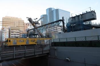 2019年2月3日、池袋、東側から。右手が池袋駅。