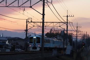 2019年2月24日 17時41分ころ。元加治。通過した4009Fの下り列車。