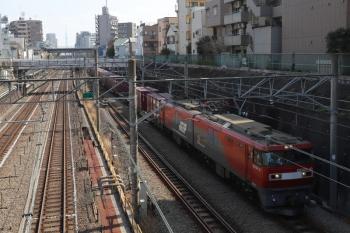 2019年3月5日 11時58分ころ。池袋~大塚駅間。EH500-10が牽引の南行のコンテナ貨物列車。