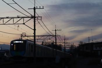 2019年3月9日。元加治。秩父から横浜方面へ向かう404レ。