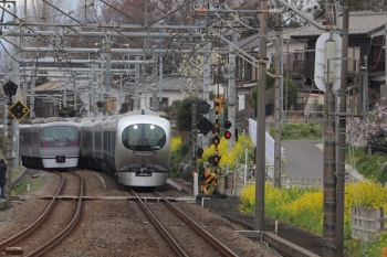 2019年3月23日。元加治。001系の20レ(右)と10109Fの9レ。