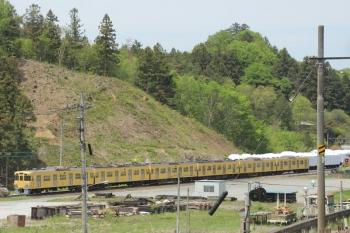 2019年5月3日。横瀬駅。2000系の廃車体。