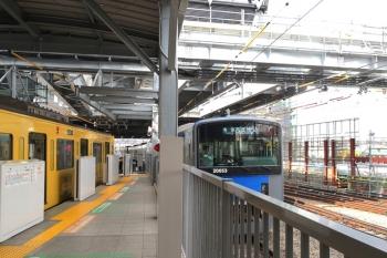 12019年5月31日。池袋。4本目の桁が設置された池袋駅から発車した20153Fの各停 西武秩父ゆき(5205レ)。