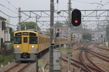 2019年6月7日。小平。下り1番ホームへ到着する2505F+2525Fの上り列車5404レ。折り返し5533レとなりました。