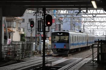 2019年6月23日 17時4分ころ。所沢。6番線から発車した20107Fの下り回送列車。この後、小手指車両基地の中央部に20107Fは止まっていました。