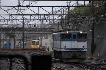 2019年7月7日 13時8分ころ。新秋津。1251Fを牽引して来たEF65-2080が切り離されて単機回送で発車。