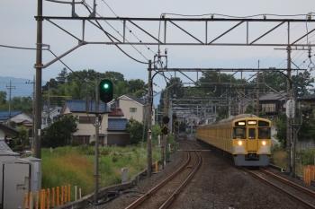 2019年7月13日 5時4分ころ。元加治。9104Fの上り回送列車。