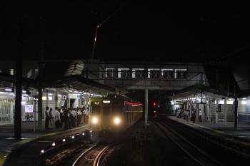 2019年7月16日。西所沢。所沢駅6番線から西所沢駅に回送され6231レとなる2007F。