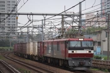 2019年7月21日 11時52分ころ。新大久保。EH500-6牽引のコンテナ貨物列車。