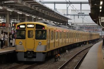 2019年7月21日 16時43分ころ。所沢。3番ホームを通過する2513F+2501Fの上り回送列車。
