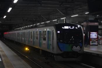 2019年8月3日 21時11分。所沢。元町・中華街から到着する40103F(コウペン)のS-Trainの405レ。