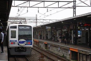 2009年6月22日 7時13分頃、所沢、元6508レの6156Fが「各停 池袋」で秋津へ発車。