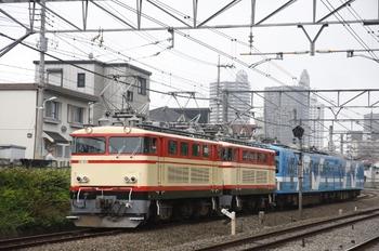 2009年6月22日、秋津~所沢、(<-秋津)E31+E34+5001+5101の甲種鉄道車両輸送列車。