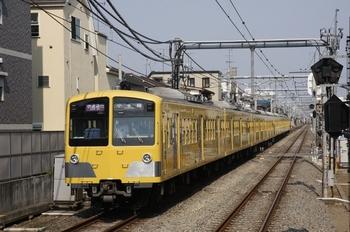 2009年6月27日 8時21分頃、椎名町、(<-池袋)1241F+1247Fの快速急行 小手指ゆき。