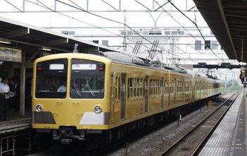 2009年7月13日 6時20分頃、所沢、277F+1249Fの新宿線・上り回送列車。