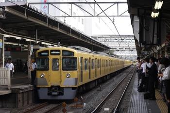 2009年7月15日 7時0分頃、所沢、人身事故の後 ホームへ入った4601レの2541F+2047F。