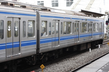 2009年7月28日、所沢、クハ6015を連結面側から撮影。