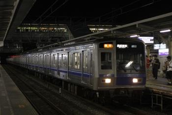 2009年8月17日、所沢、6101Fの2678レ。先頭のクハ6101はスカートなし。