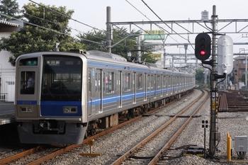2009年8月21日、所沢、前面スカートが戻ったクハ6101が最後尾の4603レ。
