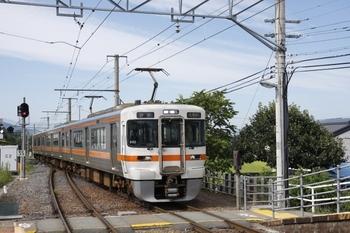 2009年8月23日、伊那福岡、230Mのクモハ313-1702ほか3連。
