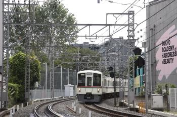 02009年8月30日 8時15分頃、高田馬場~下落合、天賞堂主催の団体臨時列車の4013F。