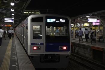 2009年9月11日 19時31分頃、所沢、発車した6117Fの準急 練馬ゆき(66M運用)。
