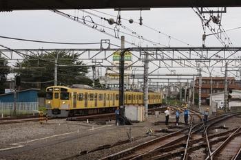 2009年9月11日 6時42分頃、所沢、駅の池袋方。