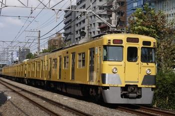 2009年9月16日、高田馬場~下落合、2413F+2057Fの2752レ(?)。