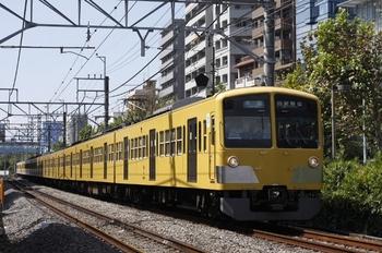 2009年9月16日、高田馬場~下落合、1311F+295Fの4624レ。3分遅れ。