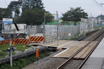 2009年9月19日、元加治、ホーム池袋方から駅南側を撮影。