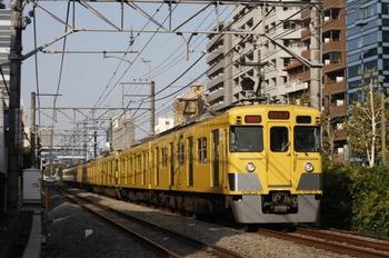 2009年10月19日、高田馬場~下落合、2405F+2537F+2533Fの通勤急行 2754レ。