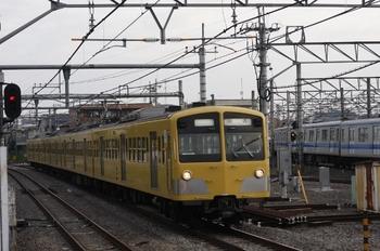 2009年10月19日 6時42分頃、所沢、1251Fの新宿線・上り回送列車。