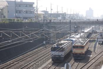 2009年11月1日、新秋津、EF65-1074・西武38106Fと西武E31+E34。