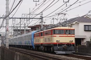 2009年11月29日 14時13分頃、所沢~西所沢、E34+E31+38107Fの下り「貨物列車」。