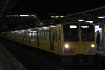 2009年12月1日、所沢、前面の種別表示幕がないクハ1309が先頭の急行 西武新宿ゆき(2604レ)。