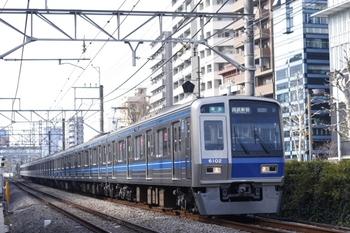 2009年12月10日、高田馬場~下落合、6102Fの4624レ。