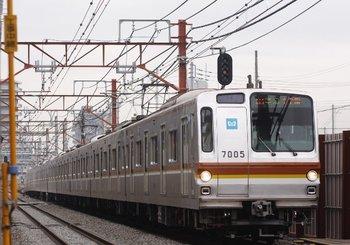 2009年12月9日、練馬高野台~石神井公園、メトロ7005Fの4515レ。
