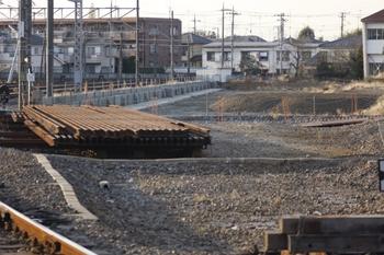 2010年1月4日、保谷、駅北西の電留線の建屋跡地。