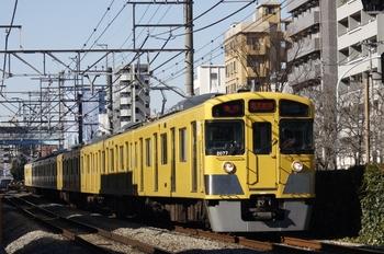 2010年1月16日、高田馬場~下落合、2077Fの2318レ。