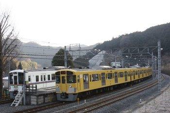2010年1月31日 8時2分頃、吾野、2065Fの西吾野ゆき臨時列車。