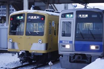 2010年2月2日 6時42分頃、所沢、左が到着する285Fほか4806レ。
