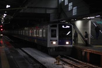 2010年2月2日 5時52分頃、所沢、6103Fの池袋線 上り回送列車。