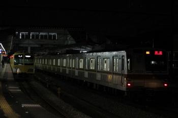 2010年2月3日 19時49分頃、西所沢、1番ホームに「08S 回送」のメトロ7030Fが留置中。