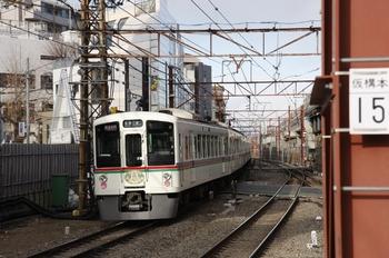2010年2月6日、石神井公園、発車した4021F+4005Fの1007レ。