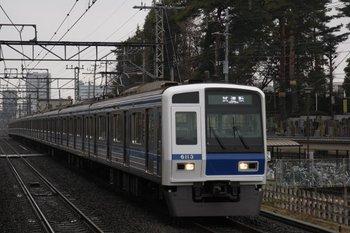 2010年2月13日 14時38分頃、武蔵関、通過する6113Fの上り試運転列車。